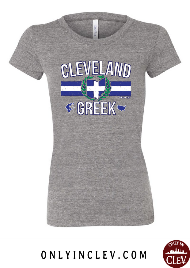 """Cleveland Greek"" Design on Gray - Only in Clev"