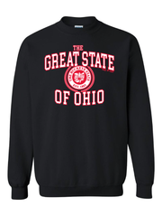 """Great State of Ohio"" Design on Black - Only in Clev"