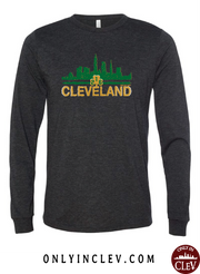 """Cleveland Irish Skyline"" design on Black"