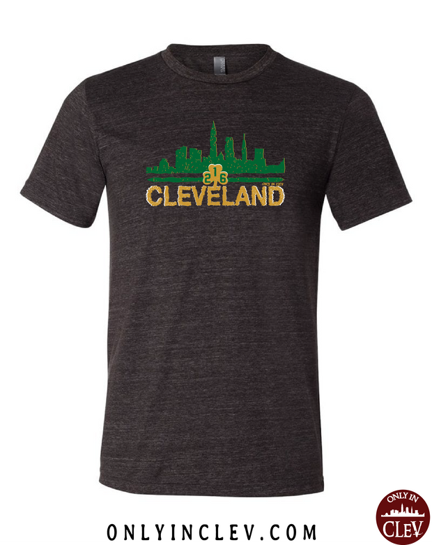 """Cleveland Irish Skyline"" design on Black - Only in Clev"