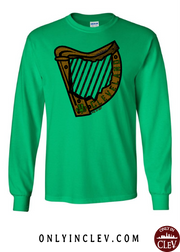 """Cleveland Irish Harp"" Design on Green - Only in Clev"