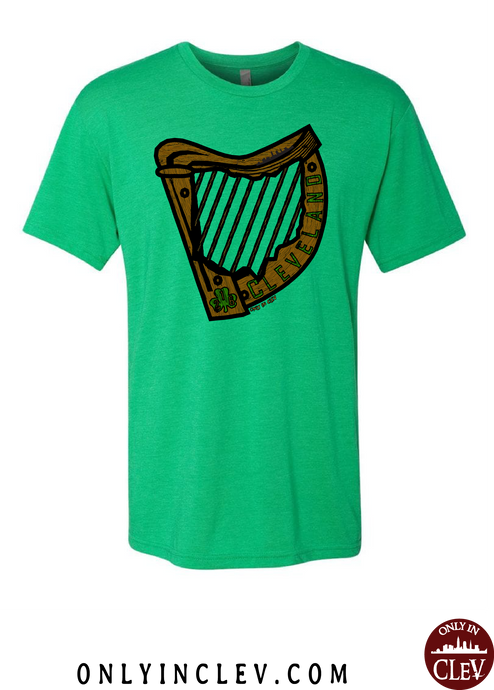Irish Harp on Green