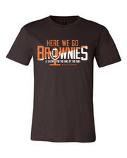 Here We Go Brownies Radio Show Design on Brown - Only in Clev