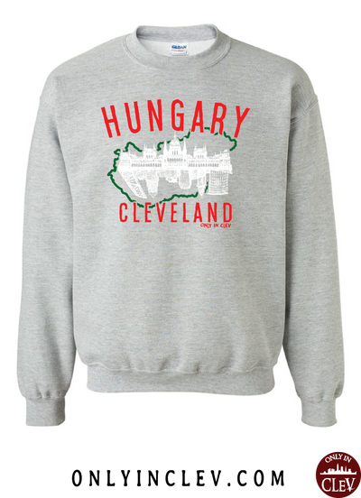 Cleveland Hungarian-Nationality Tee Crewneck Sweatshirt - Only in Clev
