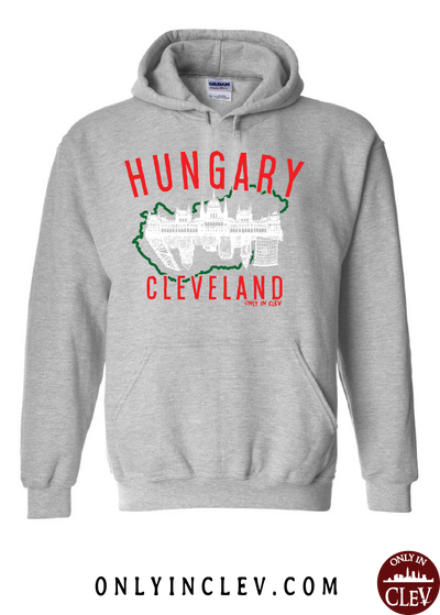 Cleveland Hungarian-Nationality Tee Hoodie - Only in Clev