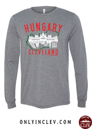 """Cleveland Hungary"" Design on Gray - Only in Clev"