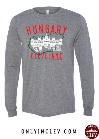 Cleveland Hungarian-Nationality Tee Long Sleeve T-Shirt - Only in Clev