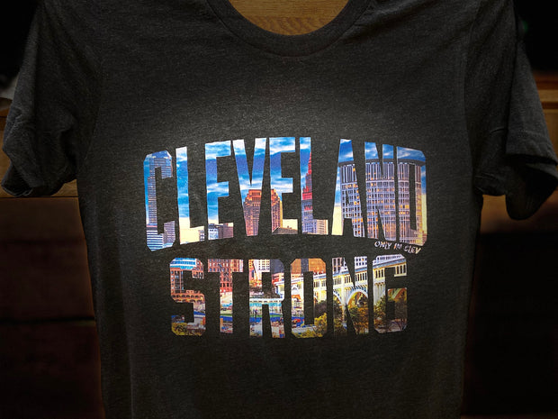 """Cleveland Strong"" on Black - Only in Clev"