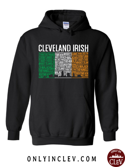Cleveland Irish Flag with the Skyline Hoodie - Only in Clev