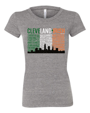 """Cleveland Irish Flag"" design on Grey - Only in Clev"