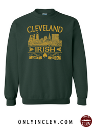 """Cleveland Irish"" Design on Emerald Green"