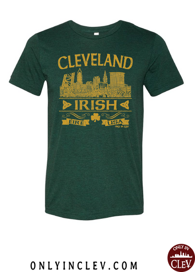 """Cleveland Irish"" Design on Emerald Green - Only in Clev"