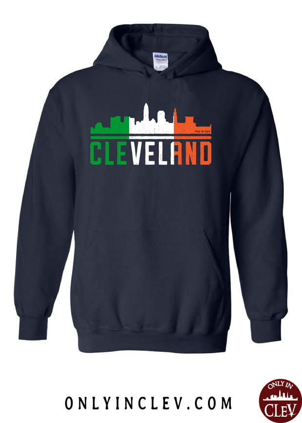 Irish Cleveland Skyline Hoodie - Only in Clev
