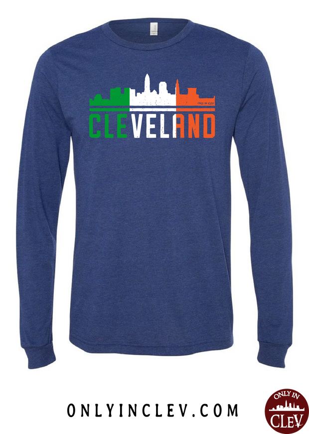Irish Cleveland Skyline Long Sleeve T-Shirt - Only in Clev