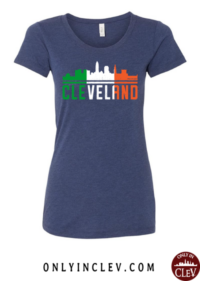Irish Cleveland Skyline Womens T-Shirt