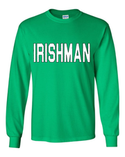 """Irishman"" design on Kelly Green"