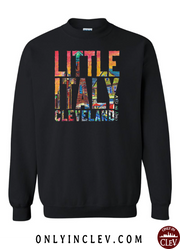 """Little Italy Cleveland"" Design on Black - Only in Clev"