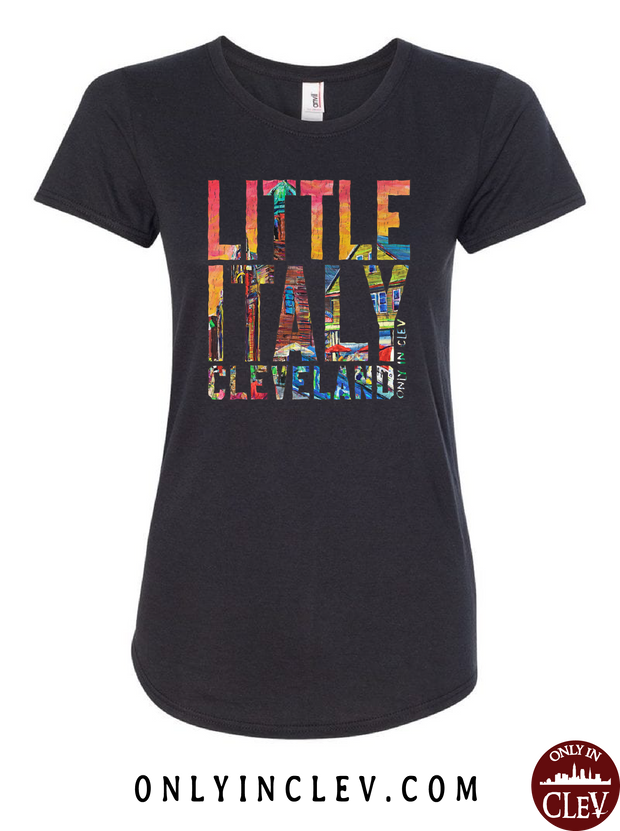 """Little Italy Cleveland"" Design on Black"