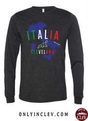 """Italia Cleveland"" Design on Black - Only in Clev"