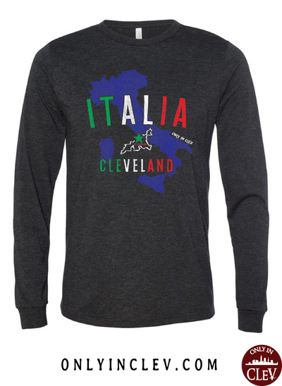 Italia-Cleveland Long Sleeve T-Shirt - Only in Clev