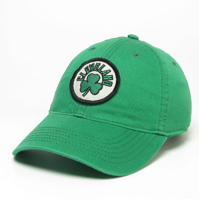 """Cleveland Shamrock"" on Kelly Green Hat - Only in Clev"