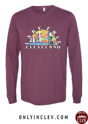 """Lake Erie"" on Maroon - Only in Clev"