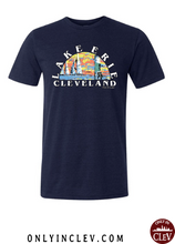 Lake Erie T Shirt on Navy