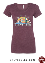 Lake Erie T Shirt on Maroon