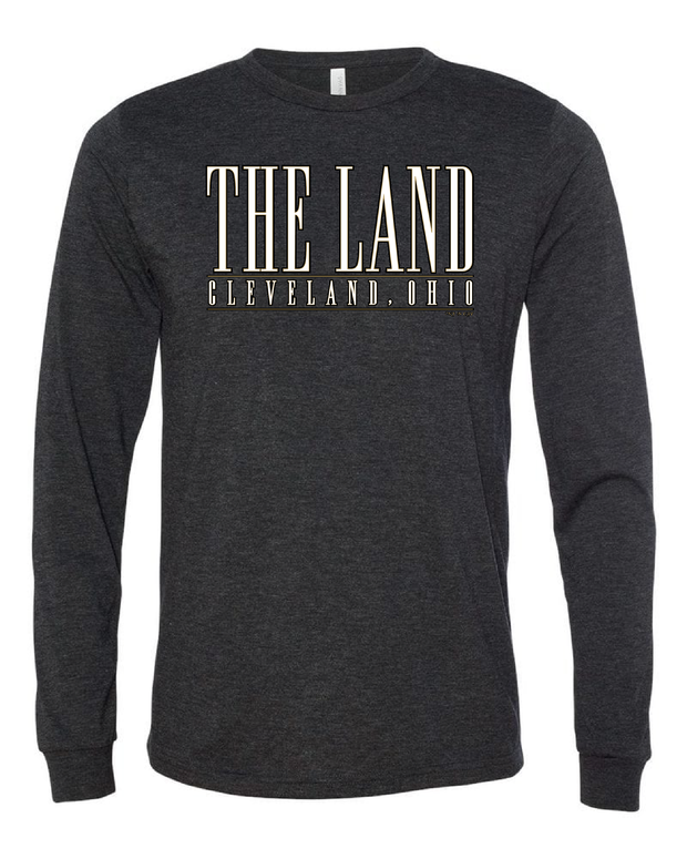 """The Land Metallic Gold"" Design on Black - Only in Clev"