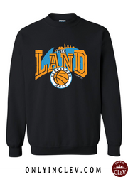 """The Land Retro 90's"" Design on Black - Only in Clev"
