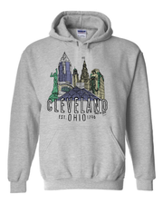 """Cleveland Landmark Design"" on Gray - Only in Clev"