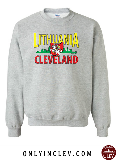 Cleveland Lithuania-Nationality Tee Crewneck Sweatshirt - Only in Clev