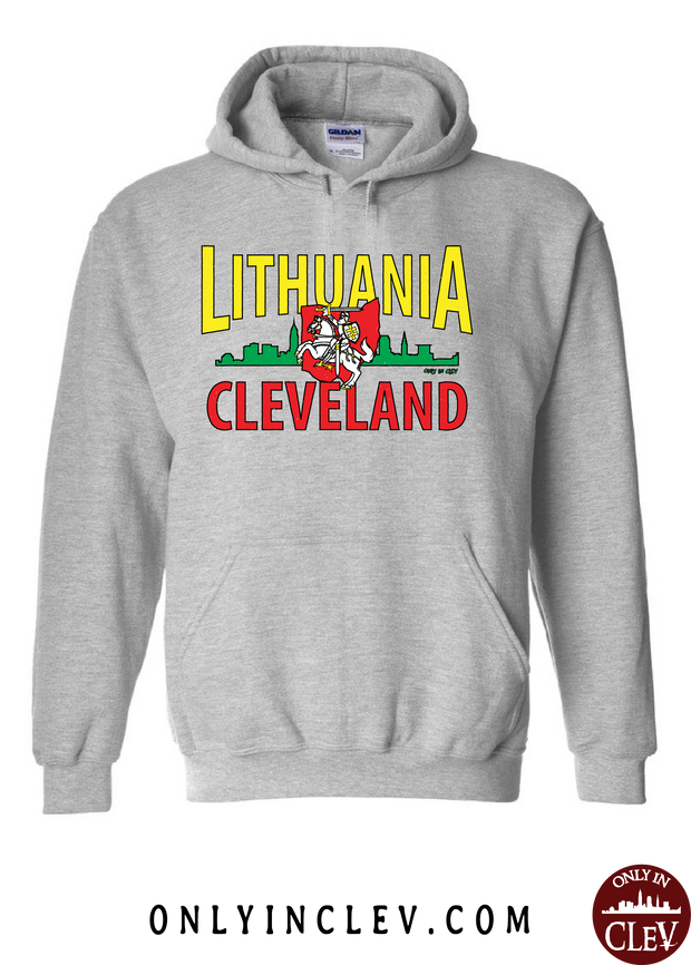Cleveland Lithuania-Nationality Tee Hoodie - Only in Clev