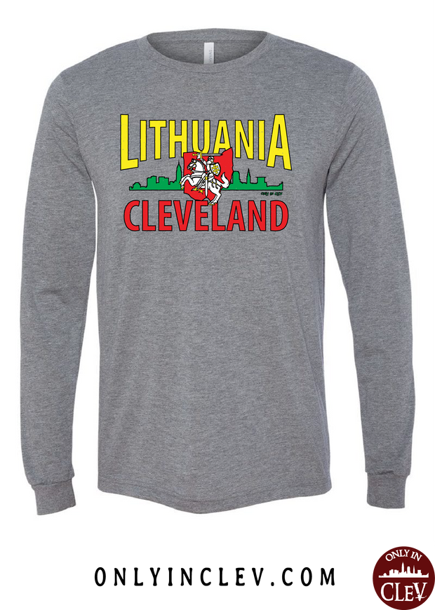 Cleveland Lithuania-Nationality Tee Long Sleeve T-Shirt - Only in Clev