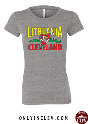 """Lithuania Cleveland ""Design on Gray - Only in Clev"