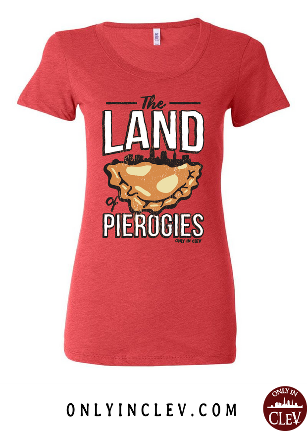 """Land of Pierogies"" Design on Red"