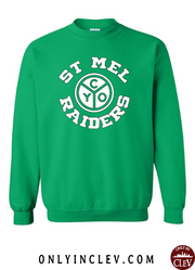 """St. Mel"" Design on Green - Only in Clev"
