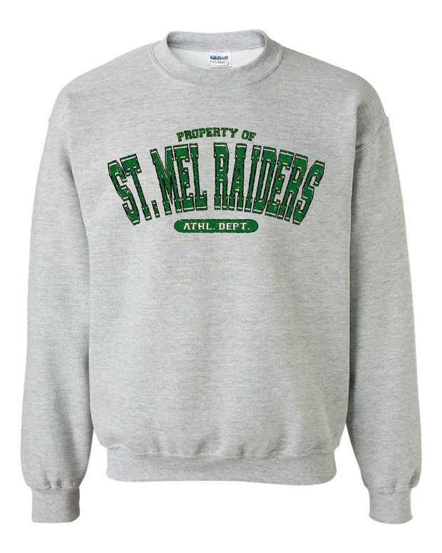 "Property of ""St. Mel's"" Design on Gray - Only in Clev"