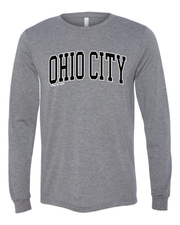 """Ohio City"" Neighborhood Design on Gray"