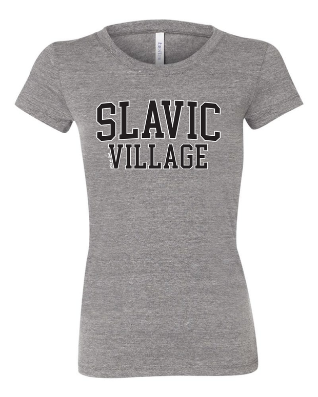 """Slavic Village"" Neighborhood Design on Gray - Only in Clev"