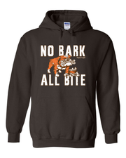 """No Bark All Bite"" T Shirt on Brown - Only in Clev"