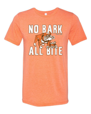 """No Bark All Bite"" T Shirt on Orange - Only in Clev"