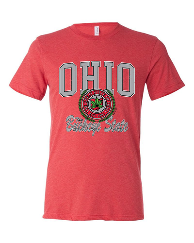 """Ohio Buckeye State"" Design on Red - Only in Clev"