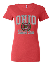 """Ohio Buckeye State"" Design on Red"