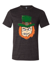 """The Cleveland Ohio Leprechaun"" design on Black"
