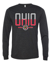 """Scarlet & Gray Ohio"" Design on Black"