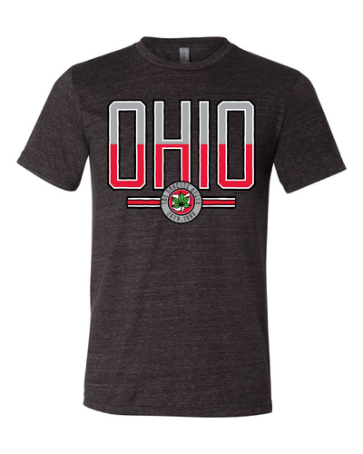 """Scarlet & Gray Ohio"" Design on Black - Only in Clev"