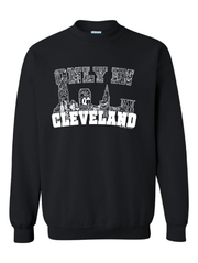"""Only in Cleveland White Design"" on Black - Only in Clev"