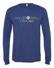 """Our Lady of Angels Cougars"" Design on Gray"