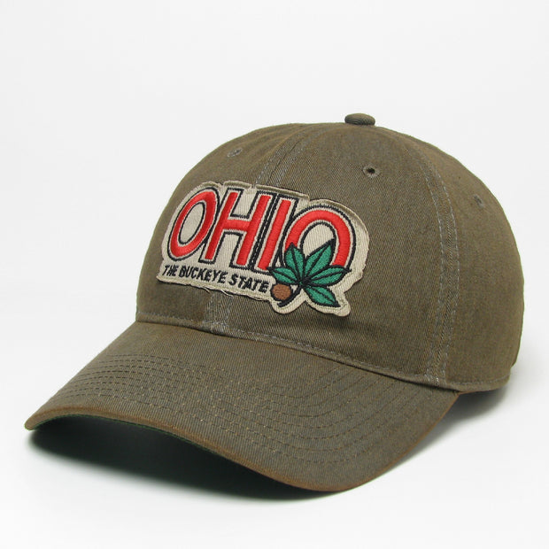 Ohio Buckeye State on Washed Gray Hat - Only in Clev